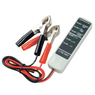 12V BATTERY TESTER - TWO CLAMPS